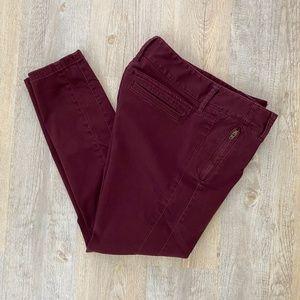 LOFT Marisa Skinny Zip Pocket Sateen Chinos 6P